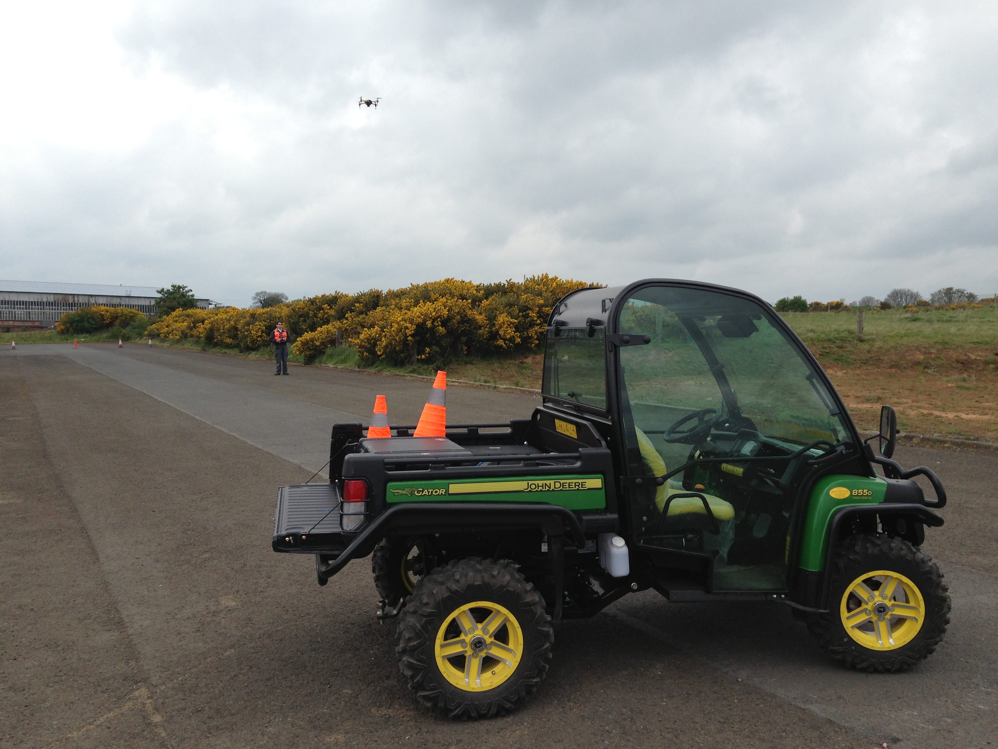 Our Gator transport around the site