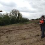 Paul flying the Responder UAV